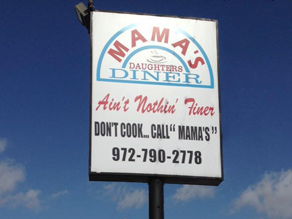 Mamas Daughters diner Irving Shady Grove